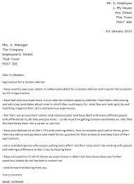 energy adviser cover letter