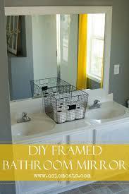 framed bathroom mirrors ideas best 25 framed bathroom mirrors ideas on pinterest framing a