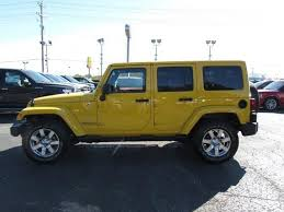 yellow jeep wrangler unlimited 2015 jeep wrangler unlimited sahara chillicothe oh columbus