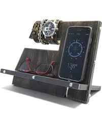 charging station phone incredible spring deals on black vintage industrial rustic wood