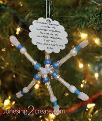 lds primary christmas craft and little snowflake song