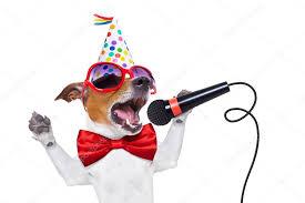 happy birthday singing happy birthday dog singing stock photo damedeeso 72784459
