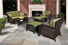 outdoor patio conversation sets 2 hanover strathmere 6 piece wicker outdoor conversation set