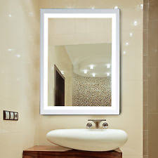 lighted wall mounted bathroom mirrors ebay