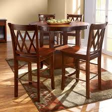 high top round kitchen table craftman dinette area design with round leaf bar high kitchen tables