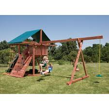 swing sets with climbing u0026 rock wall hayneedle