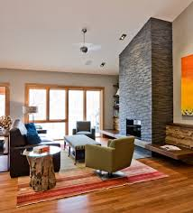 fireplace wall decor family room contemporary with area rug art