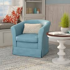 Living Room Chair Cover Barrel Swivel Chair Slipcover Wayfair