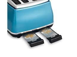 Dark Blue Toaster Icona Blue 4 Slice Toaster Cto4003b Delonghi Australia