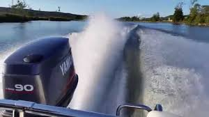 yamaha outboard power 90 hp wot wide open throttle youtube