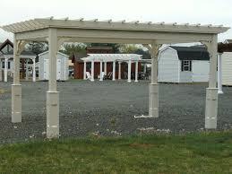 10 u0027 x 14 u0027 traditional vinyl pergola hometown structures