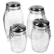4 piece glass canister set in red glass canisters canister sets