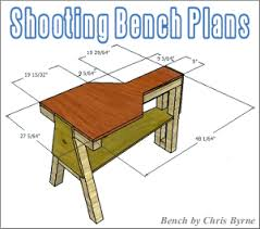 free shooting bench plans u2014 fourteen do it yourself designs