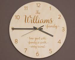 personalized anniversary clocks personalized clock etsy