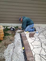 How To Cut Patio Pavers How To Build A Patio Part 4 Laying Pavers The Hansen Family