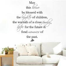 Wedding Blessing Words Aliexpress Com Buy May This Home Be Blessed Quote Wall Sticker