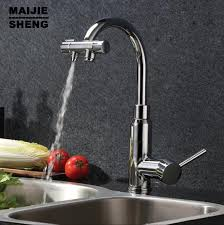 two kitchen faucet doubld function kitchen faucets two functions 3 in1 water filter
