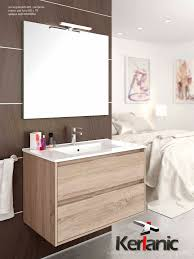 muebles de lavabo mueble de baño suspendido siri 60 80 100 cm 2 cajones con espejo