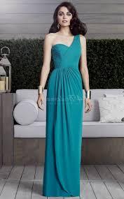 one shoulder turquoise bridesmaid dresses naf dresses