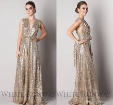 gold maternity bridesmaid dress convertible style gold sequins bridesmaid dresses 2016 plus