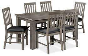 porter 7 piece dining room set slate and black leon u0027s