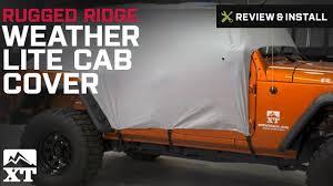 jeep wrangler rugged ridge weather lite cab cover 2007 2017 jk 4