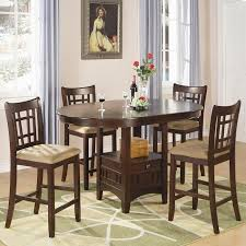 Dining Room Chairs Cherry Lavon Counter Height Dining Room Set Cherry Coaster Furniture