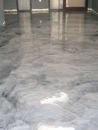 metallic silver concrete floor at boulder colorado tech