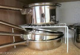 restoration beauty organizing pots pans bake ware with dollar