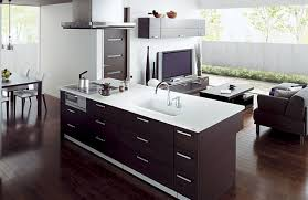kitchen and lounge design combined awesome open kitchen design with wooden storage and sleek