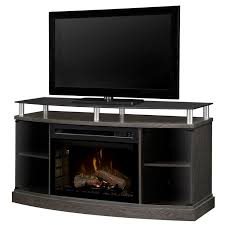 the dimplex windham electric fireplace a console has an elevated bowed cabinet and a choice of a beds