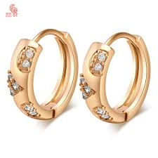 stylish gold earrings aliexpress buy new stylish hoop earrings with shing cubic