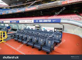 Stadium Bench Barcelona September 22 2014 Staff Bench Stock Photo 457628002