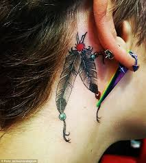 cover tattoo behind your ear paris jackson tattoos meanings a complete tat guide