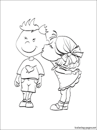 love u2013 kisses boy cheek coloring book coloring pages