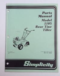 simplicity parts manual rear tine tiller 1105 u2022 cad 15 77