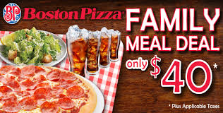 Thanksgiving Meal Deals Boston Pizza Family Meal Deal Clifton Hill Niagara Falls Canada