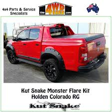 holden car truck kut snake monster flare kit holden colorado rg full kit