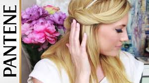 half up headband hair tuck easy hairstyles for long hair with