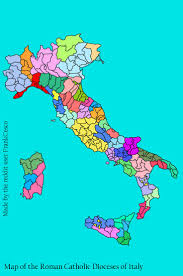 The Map Of Italy by Detailed Map Of The Catholic Dioceses And Archdioceses Of Italy