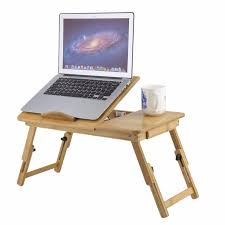 Laptop Sofa Desk Classical Fashion Portable Adjustable Folding Bamboo Laptop Table