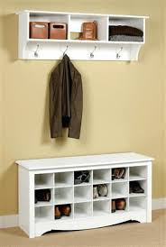 coat hanger with storage bench with shoe storage and coat rack