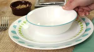 corelle south beach 16 piece dinnerware set youtube