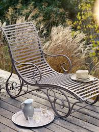 Metal Reclining Garden Chairs French Inspired Elegant Metal Lounger New Online Store Www