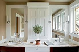 InchdoublevanityBathroomTraditionalwithantiquesbathroom - Bathroom mirrors for double vanity