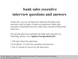 Bank Sales Executive Resume Bank Sales Executive Interview Questions And Answers