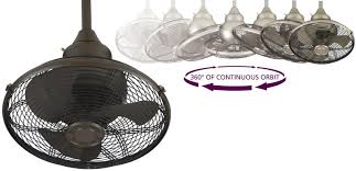 ceiling mount oscillating fan fanimation of110ob extraordinaire 18 caged ceiling fan with oil