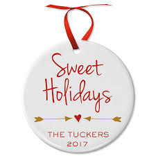 sweet holidays round ornament lillian vernon