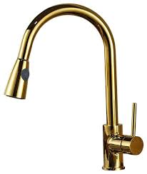 Designer Kitchen Faucet Manaus Deck Mounted Kitchen Sink Faucet Gold Contemporary