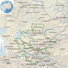 Asia Rivers Map by Central Asia Aral Sea And Surrounding Area